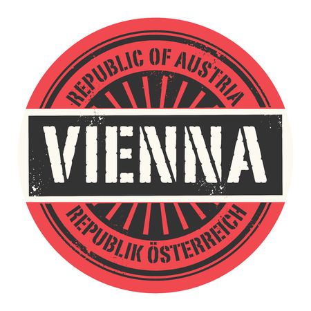 Grunge rubber stamp with the text Republic of Austria Vienna vector illustration Vector