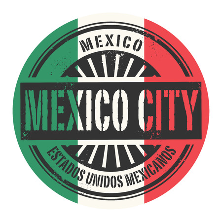carribean: Grunge rubber stamp with the text Mexico Mexico City vector illustration