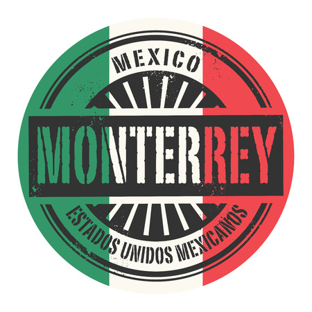 monterrey: Grunge rubber stamp with the text Mexico Monterrey vector illustration
