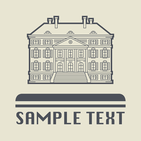 dutch landmark: Building icon or sign, vector illustration