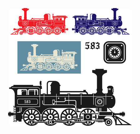 electric train: Locomotive, vector illustration Illustration