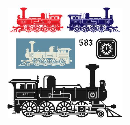 maquina vapor: Locomotora, ilustración vectorial Vectores