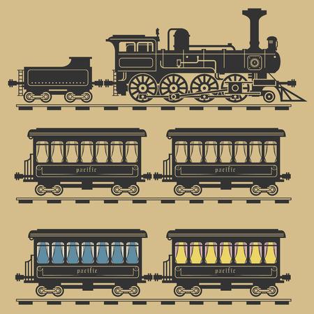 locomotive: Locomotive train, vector illustration Illustration