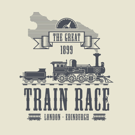 Train Race abstract, vector illustration Vector