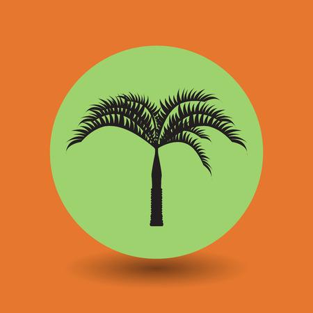 baum symbol: Tropische Palme-Symbol, Vektor-Illustration
