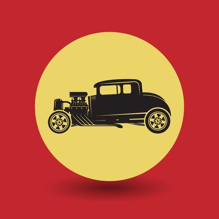 rally car: Fast car symbol, vector illustration Illustration