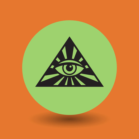 ojo de horus: Ojo del símbolo de la Providencia, ilustración vectorial