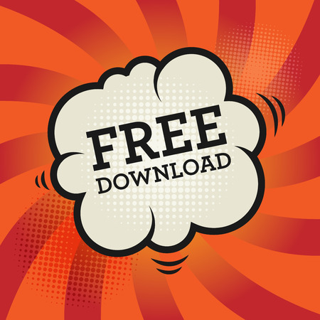 freebie: Comic explosion with text Free Download, vector illustration