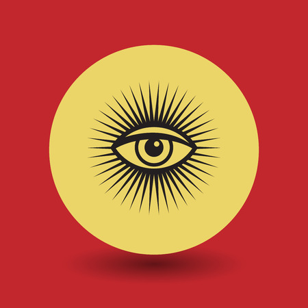 eye of providence: Eye Of Providence symbol, vector illustration Illustration