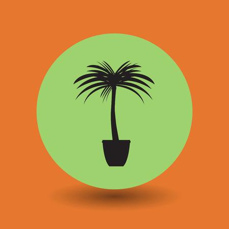 baum symbol: Palme-Symbol, Vektor-Illustration