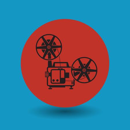 symbol vector: Cinema symbol, vector illustration