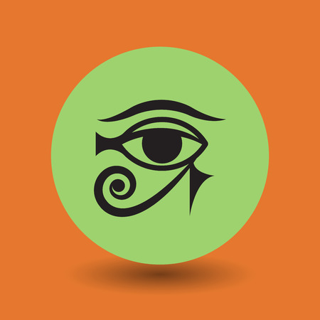 third eye: Ancient Egyptian symbol, vector illustration