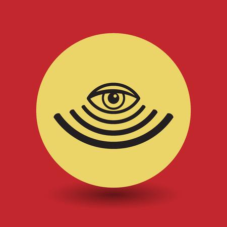 surveillance symbol: Surveillance symbol, vector illustration