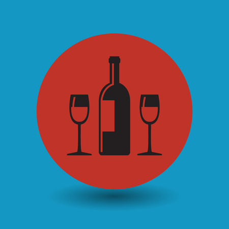 sampling: Wine or alcohol symbol, vector illustration Illustration