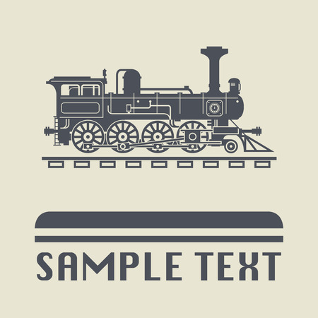 locomotive: Locomotive icon or sign, illustration Illustration