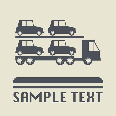 car transportation: Icono del transporte del coche o el signo, ilustraci�n Vectores
