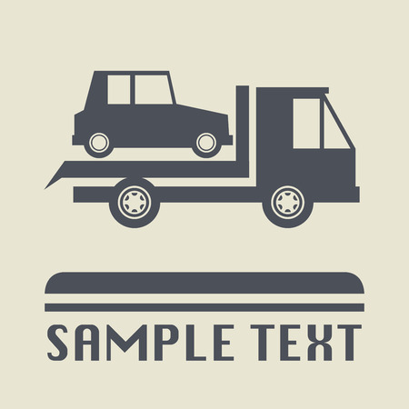 car transportation: Car transportation icon or sign, illustration Illustration