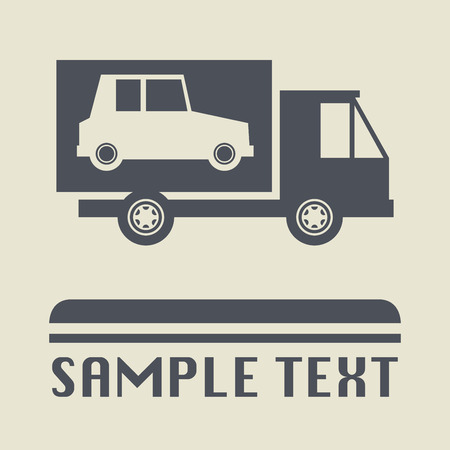 car transportation: Car transportation icon or sign, vector illustration Illustration