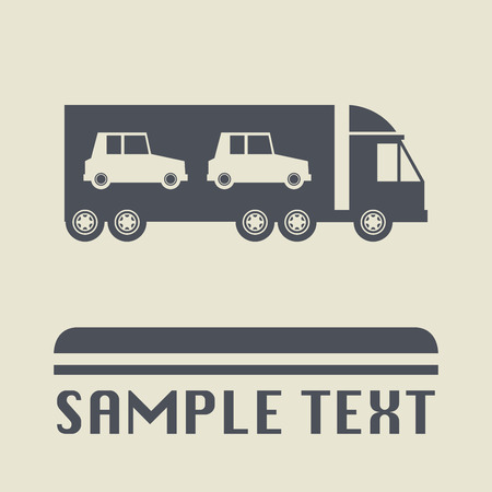 car transportation: Icono del transporte del coche o el signo, ilustraci�n vectorial