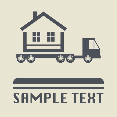 job satisfaction: Home transportation icon or sign, vector illustration Illustration
