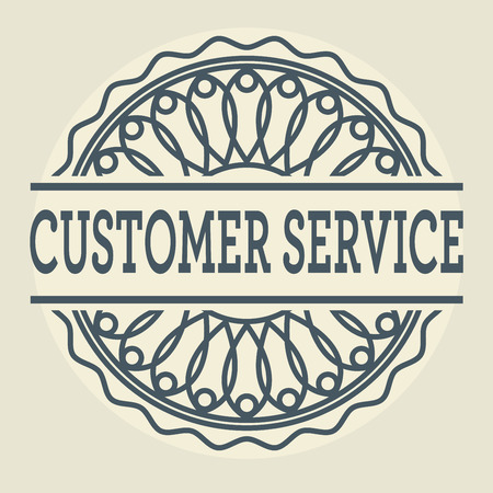 prospects: Abstract stamp or label with text Customer Service, vector illustration
