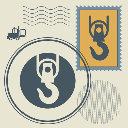 lading: Stamp or signs set, vector illustration Illustration