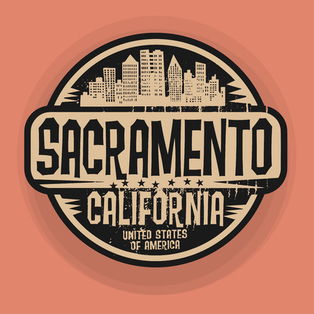 sacramento: Stamp or label with name of Sacramento