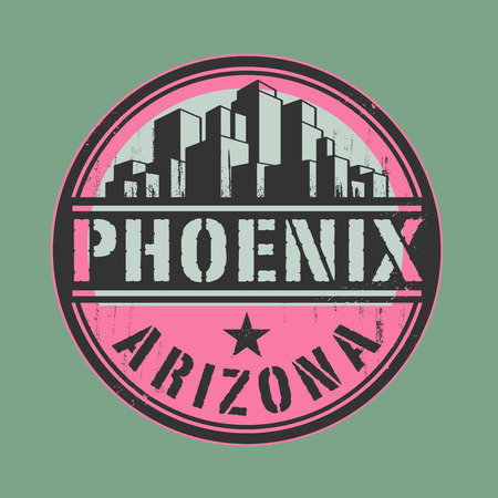 phoenix arizona: Stamp or label with name of Phoenix, Arizona Illustration