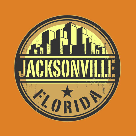 jacksonville: Stamp or label with name of Jacksonville
