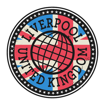 imprinted: Grunge rubber stamp with the text Liverpool, United Kingdom, vector illustration