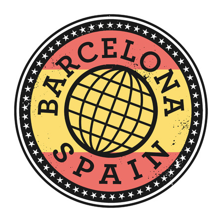 barcelona  spain: Grunge rubber stamp with the text Barcelona, Spain, vector illustration Illustration