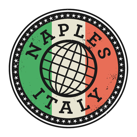imprinted: Grunge rubber stamp with the text Naples, Italy, vector illustration Illustration