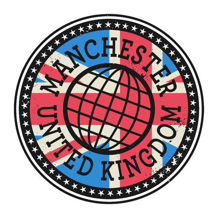 manchester: Grunge rubber stamp with the text Manchester, United Kingdom, vector illustration