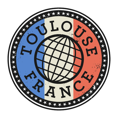 toulouse: Grunge rubber stamp with the text Toulouse, France, vector illustration