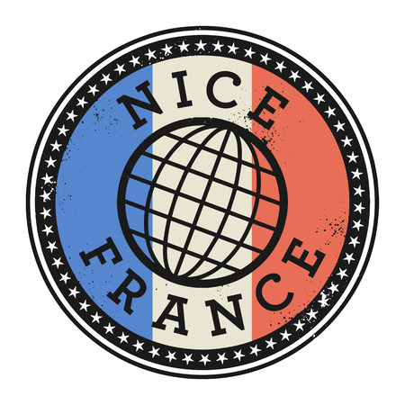 nice france: Grunge rubber stamp with the text Nice, France, vector illustration Illustration