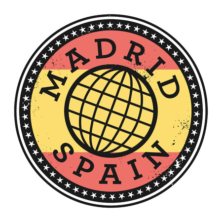 madrid spain: Grunge rubber stamp with the text Madrid, Spain, vector illustration Illustration