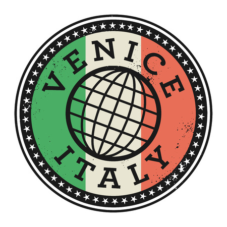 venice italy: Grunge rubber stamp with the text Venice, Italy, vector illustration