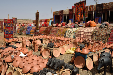 berber: MOROCCO - AUGUST 01: Traditional berber souvenirs for sale in Morocco, August 01, 2015. Morocco is one of the most popular tourist place in North Africa.