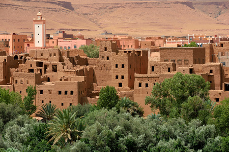 mud house: Traditional berber village in Atlas Mountain, Morocco