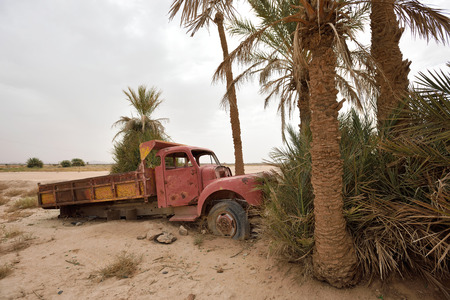 abandoned: Abandoned car in Sahara Desert, Morocco, North Africa