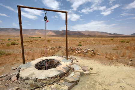 Water well in Sahara Desert, Morocco, North Africa