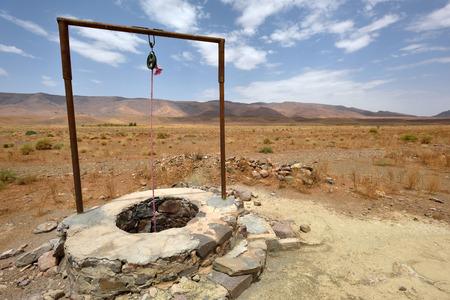 sahara desert: Water well in Sahara Desert, Morocco, North Africa
