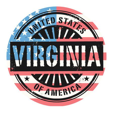 grunge rubber stamp: Grunge rubber stamp with the text United States of America, Virginia, vector illustration