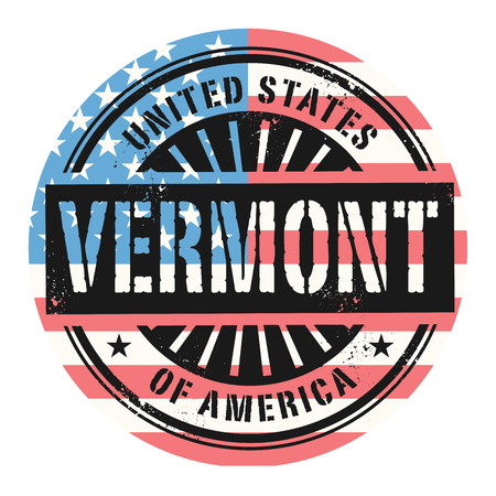grunge rubber stamp: Grunge rubber stamp with the text United States of America, Vermont, vector illustration