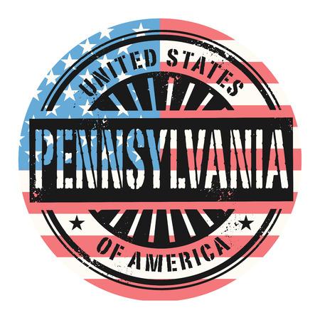 grunge rubber stamp: Grunge rubber stamp with the text United States of America, Pennsylvania, vector illustration