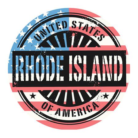 grunge rubber stamp: Grunge rubber stamp with the text United States of America, Rhode Island, vector illustration Illustration