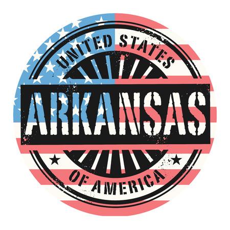 grunge rubber stamp: Grunge rubber stamp with the text United States of America, Arkansas, vector illustration