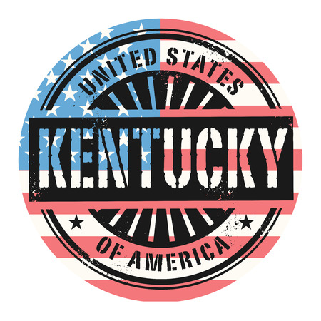 grunge rubber stamp: Grunge rubber stamp with the text United States of America, Kentucky, vector illustration