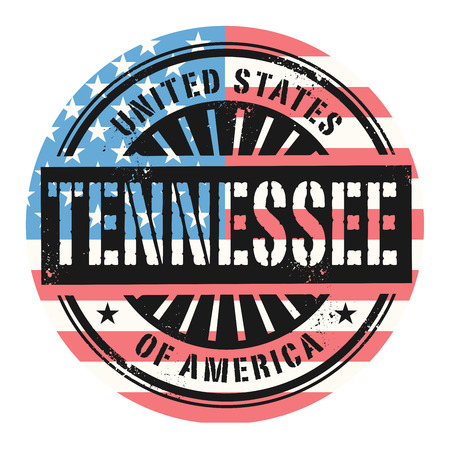 grunge rubber stamp: Grunge rubber stamp with the text United States of America, Tennessee, vector illustration