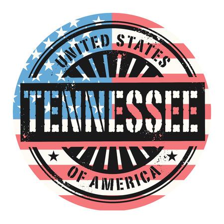 tennesse: Grunge sello de goma con el texto Estados Unidos de América, Tennessee, ilustración vectorial Vectores